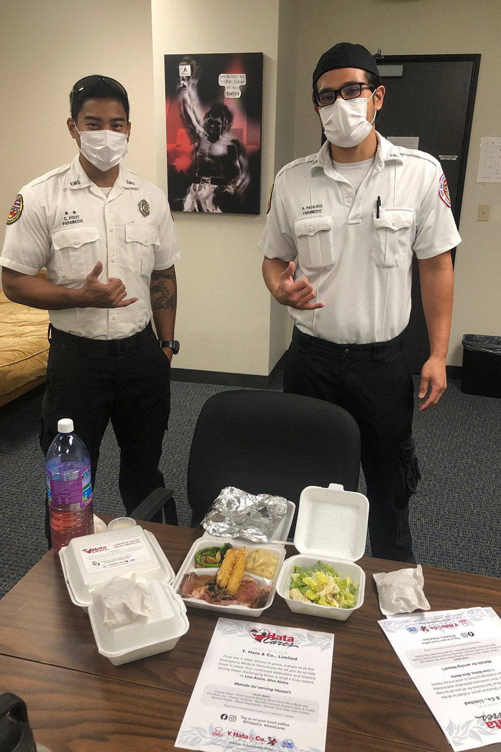 EMS technicians at the City and County of Honolulu